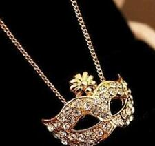 Metal mask Long section necklace Women and Men accessories HOT