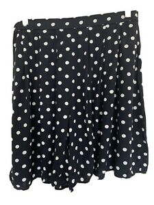 Lifestyle By Sainsbury 14 Women Shorts Navy White Polka Dots Front Pleats