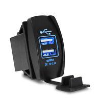 Doble Puerto Doble USB 12v 3.1A Universal Cargador de mechero de coche Adaptador