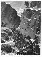 Afghanistan decimo BENGALA LANCERS nel passaggio jagdalak-stampa antica 1880