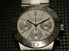 MENS STAINLESS STEEL BULGARI DIAGONO AUTOMATIC CHRONOGRAGH