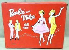 Vintage 1963 Mattel Barbie & Midge Doll Case Fits Stacy Midge Skipper Ken! Lot 4