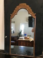 Late Georgian English Yew Wood Framed Mirror