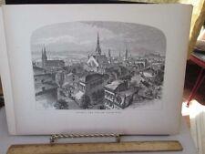Vintage Print,CINCINNATTI,Carlisle Hotel,1870s