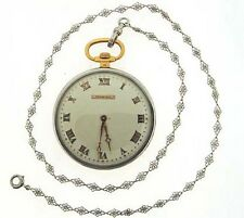 "Antique ""Tiffany & Co.""  18k Yellow gold and Platinum pocket watch and chain."