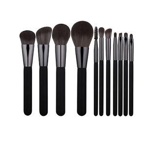 11 pcs Black Make up Brushes Set Eye Shadow Liner Blusher Face Powder Foundation