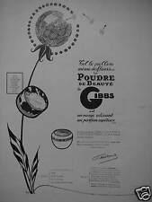PUBLICITÉ 1924 POUDRE DE BEAUTÉ DE GIBBS - DESSIN EREL - ADVERTISING