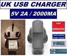 USB Power Supply Adapter Converter Charger AC 100V-240V DC 5V 2A 10W UK Plug