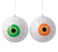 "Eyeball  Ball Ornament Set 2 Extra Large 6"" Halloween Tree Hanging Spooky Decor"