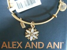 Alex and Ani Snowflake Bangle Bracelet Black Friday 2017 Rafaelian Gold NWTBC