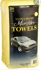 KIRKLAND Microfibre Cleaning Towel Detailing Soft Yellow Car Wash Cloth 40x40cm