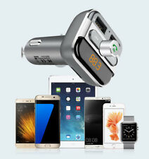 Dual USB Bluetooth FM Transmitter MP3 Radio Adapter Car Charger for iPhone iPod