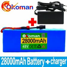Lithium 48V 28Ah Ebike Battery 1000W Pack High Power + Charger Ebike Ion Battery