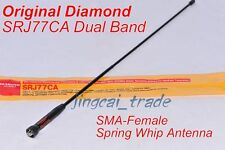 Original Japan Diamond SRJ77CA Dual-Band Flexible Antenna SMA-Female for Kenwood