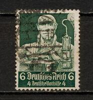 (YYAW 284) Germany 1934 USED Mich 559 Scott B62 SEMI Third Reich Nazi Miner