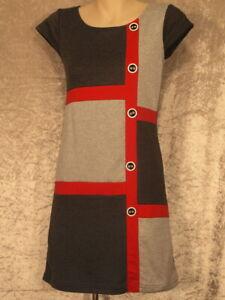 1960's Stretch Cotton Shift Style Dress Casual Work Wear Wash & Wear S & M