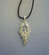 Phoenix silver pendant charm necklace phénix pendentif argent Phönix Anhänger