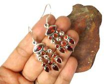 GARNET  Gemstone   Sterling  Silver  925  Earrings  -  Gift  boxed