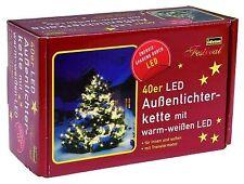 Lichterkette Lichter Kette LED Idena für innen und Aussen 40 LEDs 12 Meter