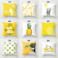 1PC Pineapple Print Back Cushion Cover Pillow Case Car Office Home Decor Fashion