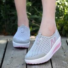 Chic Women's Breathable Mesh Platform Sneakers Fitness Trainers Sports Shoes LG
