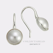 Authentic Pandora Silver Luminous Droplets White Pearl Earrings 290746WCP