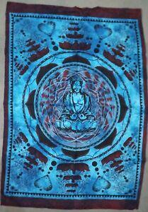 Tapestry Blue Wall Hanging Lord Buddha Lotus Buddha God Poster Dorm Decor Throw