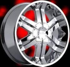 "20"" Driv Flozz Chrome Wheel 20x9 6x139.7 +35 NEW Chrome Rim fits Chevy More"