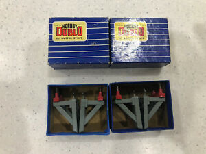 HORNBY DUBLO 2x Pairs Of Boxed Buffer Stops . Excellent.