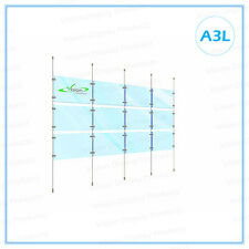 Real Estate Window, Hanging Acrylic Display Cable Kits System,12xA3L