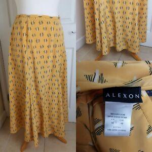 Vintage 1980s Modern Size 12 Mustard Yellow Maxi Skirt