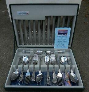 ONEIDAWARE STAINLESS STEEL 42 PIECE CANTEEN OF CUTLERY - UNUSED CONDITION