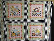 "Vintage ""At Home With Mary Engelbreit"" Craft Fabric 1994 4 Panels"