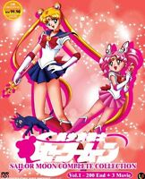 SAILOR MOON COMPLETE COLLECTION - COMPLETE ANIME TV SERIES DVD (1-200 EPS)