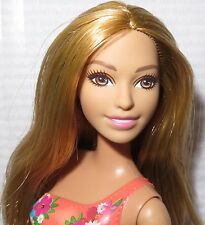 (B) ~ NUDE BARBIE STRAWBERRY BLONDE PRINTED BATHING SUIT SUMMER DOLL FOR OOAK