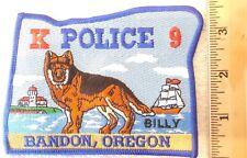 BRANDON OREGON K9 POLICE PATCH (HIGHWAY PATROL, SHERIFF, EMS)