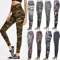 Fashion Womens Leggings Printed Thin Stretch Slim Waist Skinny Pants