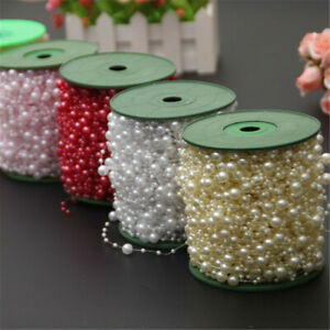 10 meters Christmas Tree Beads Garland ABS Plastic Pearls Chains Art Decorations