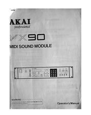 Akai VX90 Midi Sound Module Owners Instruction Manual