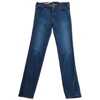 AG Prima Jeans 28R Mid Rise Cigarette Skinny Medium Dark Wash Blue MSRP $178
