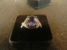 Fine Jewelry Tanzanite & Diamond Ring #R24