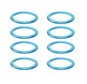 """KCNC Solid Road Mountain Bicycle Bike Stem Headset Spacers 1-1/8"""" 2mm 8pcs Blue"""