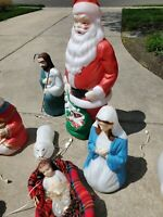 Vintage Empire Giant Santa Claus with frosty, baby Jesus plus more see pictures