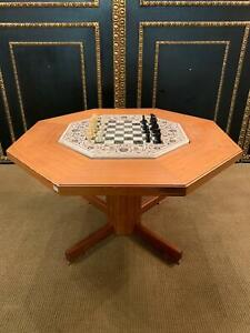 Chess Table With Einlegbaren Marble Chess Board