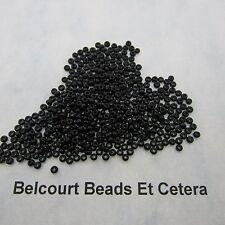 25 Grams Black Opaque Size 10/0 Czech Glass Preciosa Seed Beads