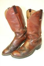 Red Wing Pecos USA Made Vintage Mens 12 B Leather Cowboy Western Work Boots