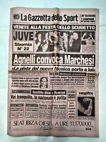 GAZZETTA DELLO SPORT 29 APRILE 1986 FESTA GIORNO DOPO 22° SCUDETTO JUVENTUS 04