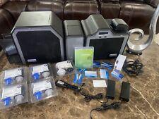 Fargo Hdp5000 Dual Side Id Card Printer, laminator & Supplies Bundle!