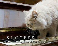 Musical Instruments Motivational Poster Piano Band Sheet Music Success MVP471