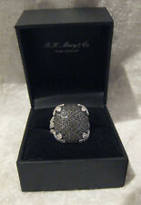 Sterling Silver/Black Saphire Ring Size 7 MIB